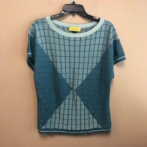 St. John knit sweater Tee loose short sleeve L